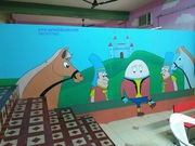kids classroom wall painting