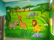 kids classroom art wall painting in hyderabad