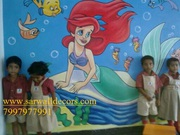 playschool cartoon art wall painting in hyderabad