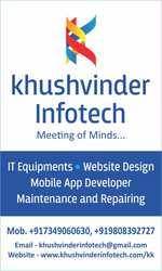 khushvinder Infotech, web-designing, mobile app, IT equipments.